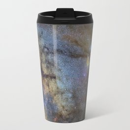 The Milky Way and constellations Scorpius, Sagittarius and the super big red star Antares. Travel Mug