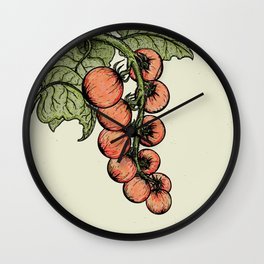 Tomatoes on the Vine Wall Clock