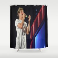 niall horan Shower Curtains featuring Niall Horan by Halle