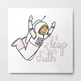 A leap of faith Metal Print