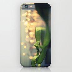 christmas ribbon bokeh iPhone 6s Slim Case