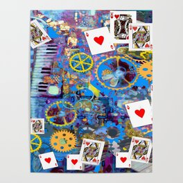 BLUE BOHEMIAN STEAMPUNK MUSICAL CARDS GAME Poster
