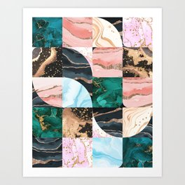 Marble Obsession Art Print