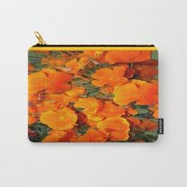 Sage Green Art Golden California Poppies Design Carry-All Pouch