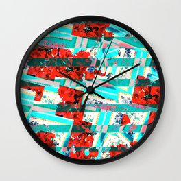Vivid Bougainvillea  Wall Clock