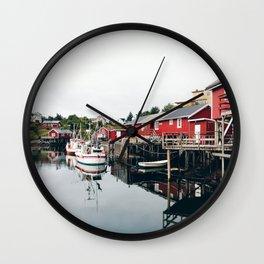 norwegian harbour Wall Clock