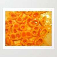 Alphabet Spaghetti  Art Print