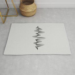 Abstract 80s Soundwave Art Music Audio black and white Musical design home wall bedroom decor Art Pr Rug