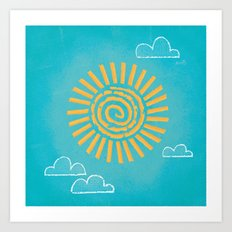Primitive Sun (Cool Variant) Art Print