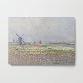 Tulip Fields near The Hague Metal Print