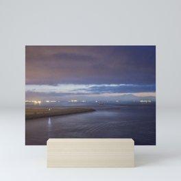 Daybreak at America's Port painterly Mini Art Print