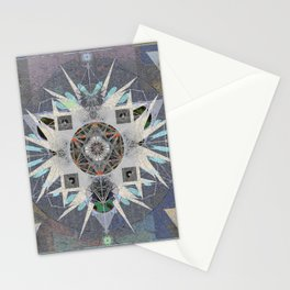 Iterations of the 5th Dimension Meditation Mandala Stationery Cards