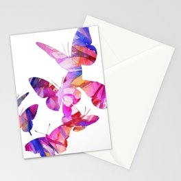 Pink Butterflies Stationery Cards