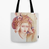 matty healy Tote Bags featuring Sensory Overload by Jennifer Healy