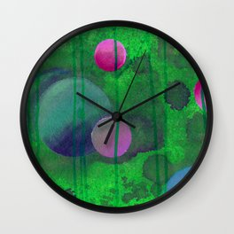 greenish sphere Wall Clock
