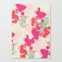 splatter Canvas Prints featuring Splatter by C Designz