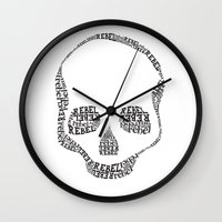rebel Wall Clocks featuring Rebel by Estaschia Cossadianos