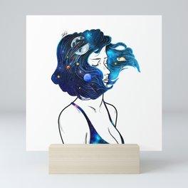 blowing  universe mind. Mini Art Print