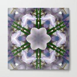 Wisteria Kaleidoscope Metal Print