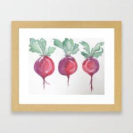 Watercolor beets Framed Art Print