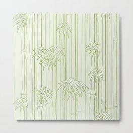 Bamboo Ornament Metal Print