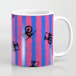 pink no blue bounding spinning wheel stripes 2 Coffee Mug