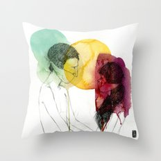 Love doesn't need words. Throw Pillow