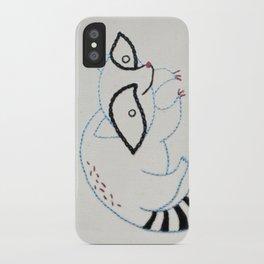 R Raccoon iPhone Case