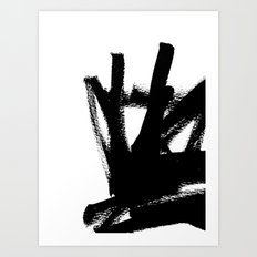Abstract black & white 1 Art Print