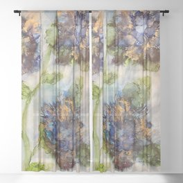 Blue Azaleas Sheer Curtain