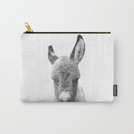 Black and White Baby Donkey Carry-All Pouch