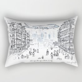 Hong Kong Old Kowloon City Rectangular Pillow