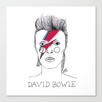bowie Canvas Prints featuring Bowie by ☿ cactei ☿