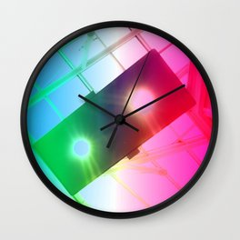 New York Psychedelic Vision Wall Clock