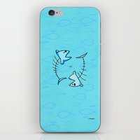 pisces iPhone & iPod Skins featuring Pisces by Giuseppe Lentini