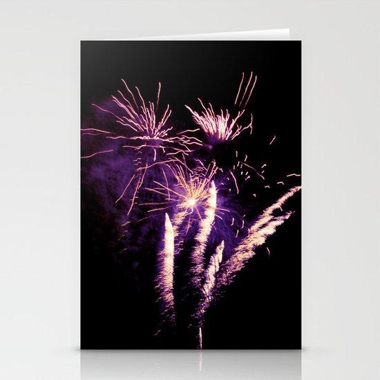 Purple firework Stationery Cards