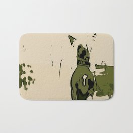 Chinese crested 3 Bath Mat