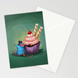 Mr. Bluemouse and a Cupcake Stationery Cards