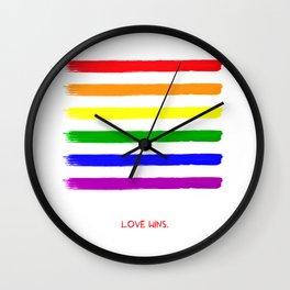 Love wins! Wall Clock