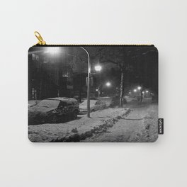 Chicago in Snow: A Study in White and Black #2 (Chicago Winter Collection) Carry-All Pouch