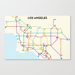 Los Angeles Freeway System Canvas Print