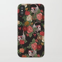 Opossum pattern iPhone Case