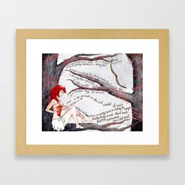 Take the Arrow from the Heart Framed Art Print