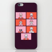 wes anderson iPhone & iPod Skins featuring Bill x Wes by Spencer Frühling