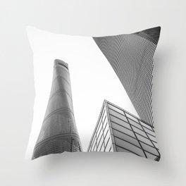 colorless shanghai 4 Throw Pillow