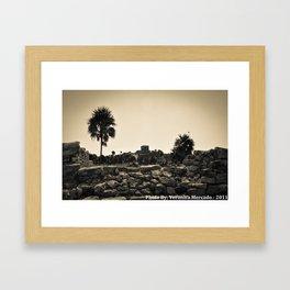 The ruins at Tulum Framed Art Print
