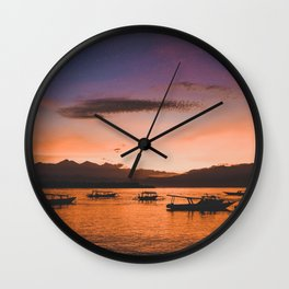 Indonesian Sunrise Wall Clock