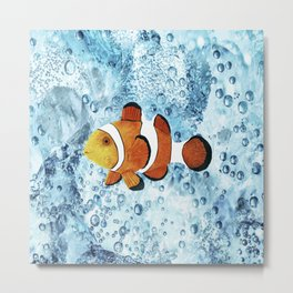 Illustration of Nemo Clown Fish Metal Print