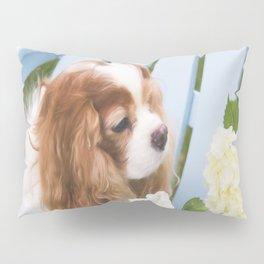 Cavalier King Charles With Hydrangeas Pillow Sham