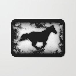 Western-look Galloping Horse Silhouette Bath Mat